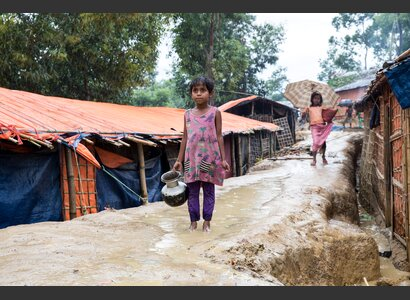 Rohingya Mädchen im Flüchtlingslager Cox's Bazar. | © Patrick Rohr / Helvetas
