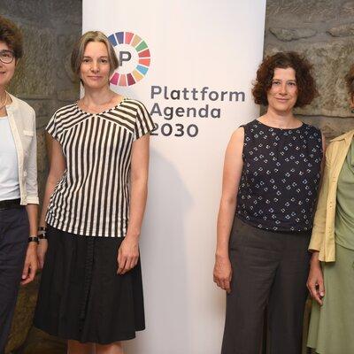 Plattform Agenda 2030 Stella Jeger, Eva Schmassmann, Regula Bühlmann, Marianne Hochuli | © Martin Bichsel