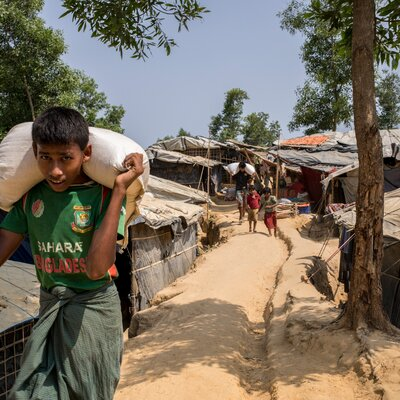 Helvetas unterstützt in den Camps Rohingya-Flüchtlinge.  | © Helvetas/Patrick Rohr