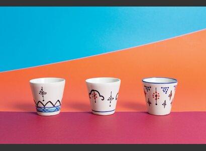 Kerzen in Keramikbecher «Arin» 3er-Set von Frédéric Dedelley | © Helvetas / Isabel Rotzler