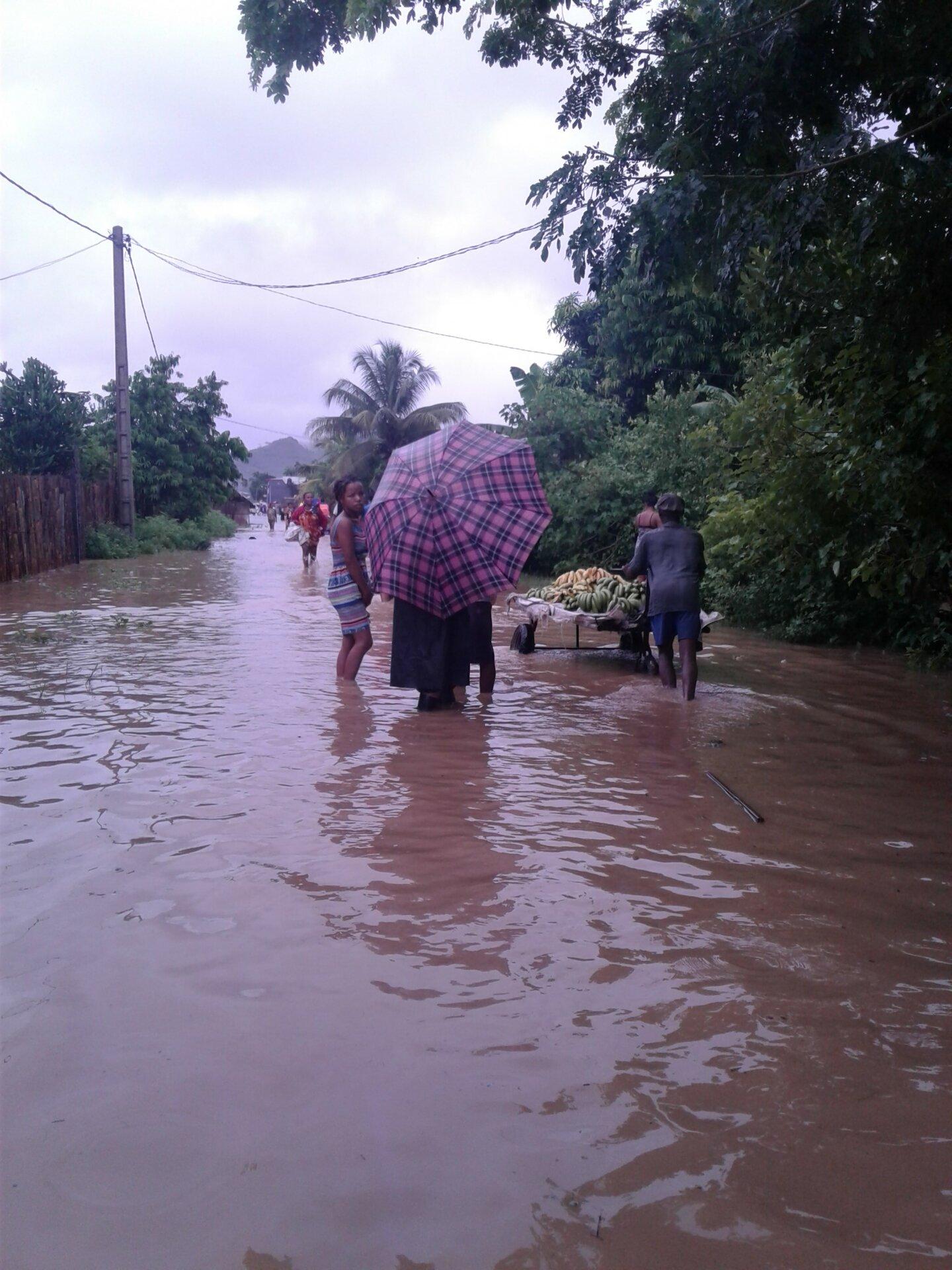 Ankatahafakely sous l'eau après une dépression tropicale | © Helvetas